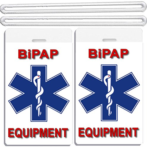 2x Medical BiPAP Equipment Luggage Tags TSA Carry-On CPAP BiPAP APNEA POC APAP Respiratory Device