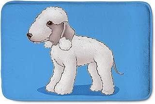SANNOVO Mildew Proof Carpet Floor Protector Flannel Comfortable Mat Entrance Door Rug Bedlington Terrier