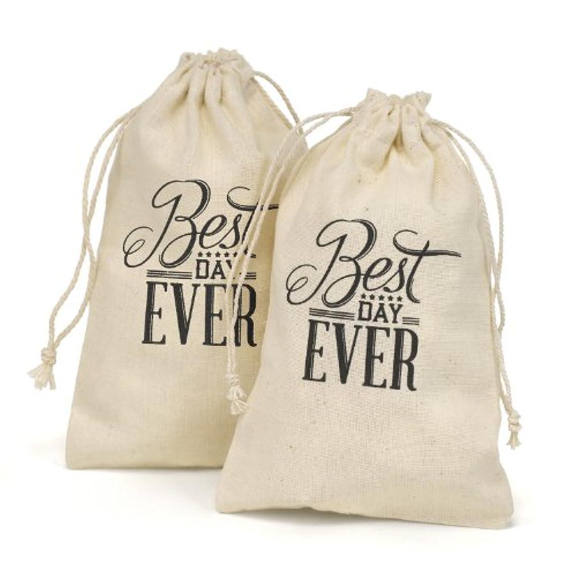 Hortense B. Hewitt 31015 Cotton Favor Bags, 4 x 6-Inches, Best Day Ever