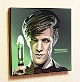 Eleventh Doctor Who Poster Pop Art for Decor with Motivational Quotes Printed (10x10 (25.4cm x 25.4cm))