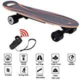 CCTO Electric Skateboard with Remote Control,7 Layer Maple Concave Longboard Scooter with Hub Motor,Skate Boards Great for Teenager and Adult (US Shipping)
