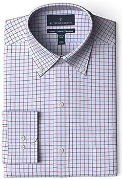 Buttoned Down Men's Classic Fit Button Collar Pattern Dress Shirt