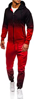 2019 Newest Men Tracksuits Casual Jogger Set Crewneck Long Sleeve Full Zip Hoodie Sweatshirt+Joggers Pant Sportsuit