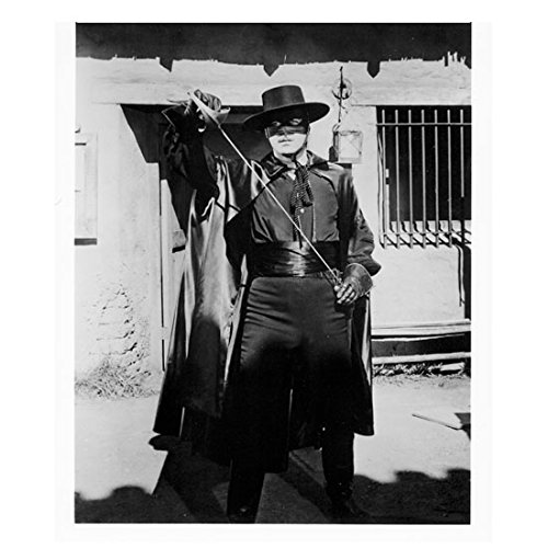 Guy Williams as Zorro Drawing Sword Ready for The Fight 8 x 10 inch photo