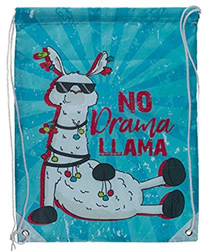 Out of the blue Llama Drawstring PE Bag