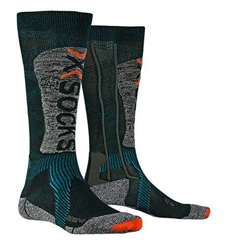 X-Socks SKI Energizer Light 4.0 Socks, Petrol/Stone Grey me, 45/47