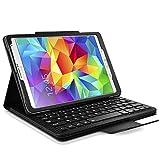 Seluxion–Funda con teclado francés AZERTY integrado, conexión por bluetooth para tablet Samsung, Apple, Asus, Amazon, Acer negro Samsung Galaxy Tab S 8.4 T700/705