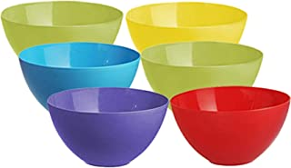 Kuber Industries Plastic Microwave Safe 6 Pieces Mixing Bowl Set- 1000 ML (Multi) - CTKTC037572