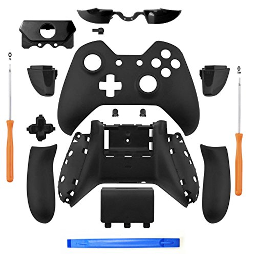 YICHUMY Matte Black Controller Housing Shell Full Set Faceplates Buttons for Xbox One Controller with The 3.5 mm Headset Jack xbox one controller shell kit with 3.5 port