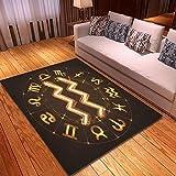Alfombra Antideslizante (152x213 cm) Signo del Zodiaco Acuario en Fuego Mostrar en el horóscopo Alfombras Circulares Alfombra para el salón de Clase Salón Dormitorio