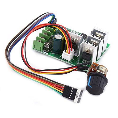 DC Motordrehzahlregler, 6V 9V 12V 24V 36V 48V 60V 30A Drehzahlregler, Geschwindigkeitskontrolle for Digitalanzeige Motortreiber, 100K mit Schalter