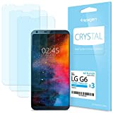 Spigen [3-Pack] Protector de Pantalla para LG G6 2017, LCD Film **Ultra-Clear** antiarañazos Ultra Claro más Duradero Protector Pantalla LG G6 (A21FL21224)