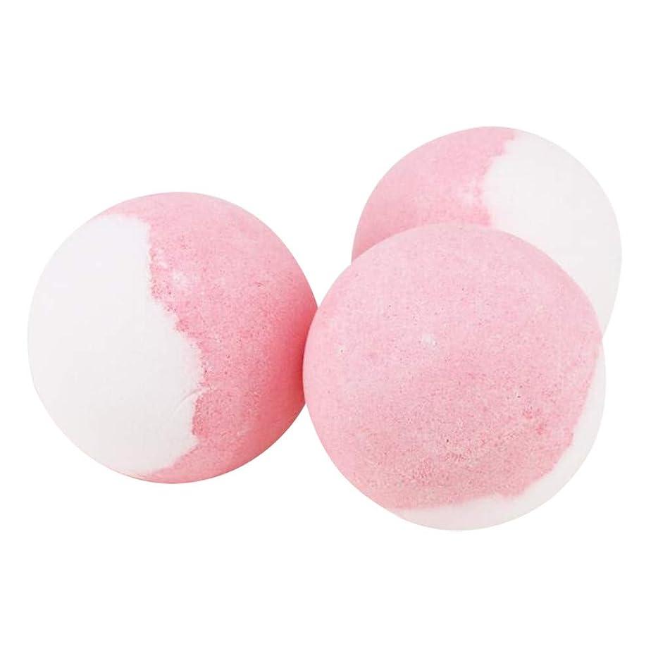 Rendodon(TM) ?? Hot!! ?? Bath Salts ?? Rose Bathing Bombs Explosion Ball Fizzy Spa Moisturizes Bubble Bath 3pcs (Diameter of About 4.5cm)