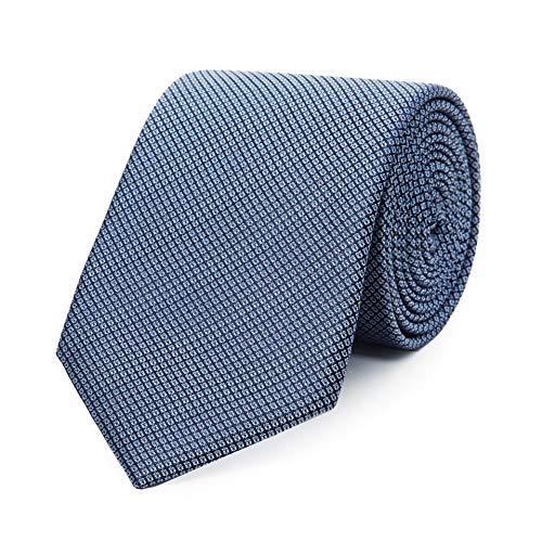 Bruce Field - Cravate pure soie damiers bleus