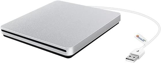 External CD DVD Drive, VersionTECH. USB Ultra-Slim Portable CD DVD RW/DVD CD ROM Burner/Writer/Superdrive with High Speed Data Transfer for Mac MacBook Pro/Air iMac Laptop