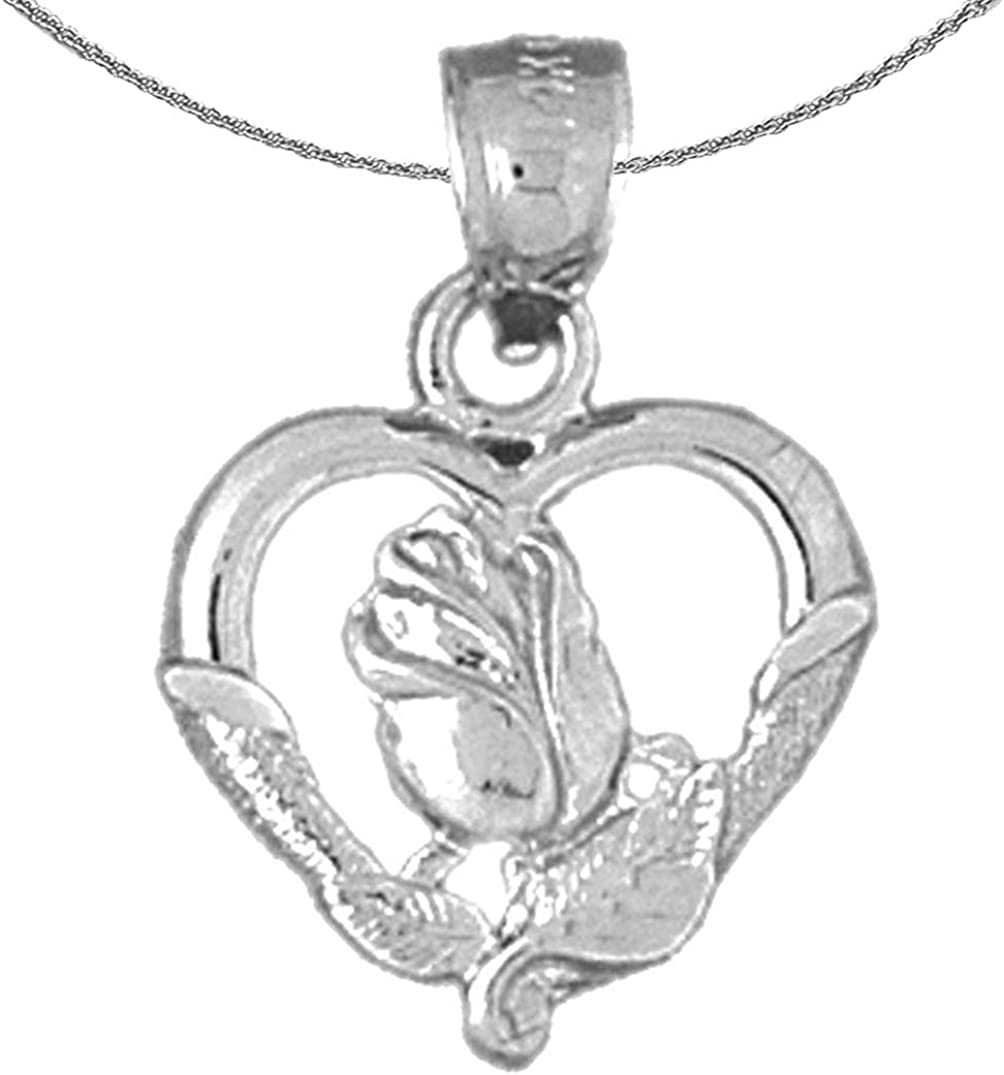 Jewels Obsession Gold Heart Sacramento 35% OFF Mall With White Necklace 14K Rose
