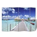 Anself Biombo Diseño de Playa, 240 x 180...