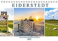 EIDERSTEDT-HIGHLIGHTS (Tischkalender 2022 DIN A5 quer): Fastzinierende Eindruecke der Halbinsel (Monatskalender, 14 Seiten )