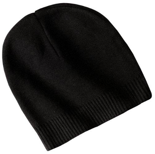 Port Authority 100% Cotton Beanie - Black - One Size