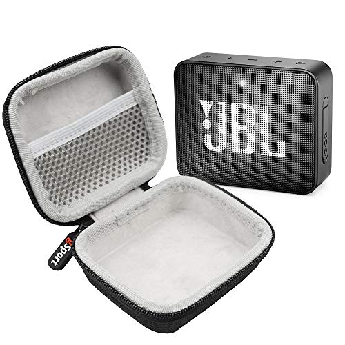 JBL GO 2 IPX7 Waterproof Ultra Portable Bluetooth Speaker Bundle with gSport Deluxe Hardshell Case (Black)