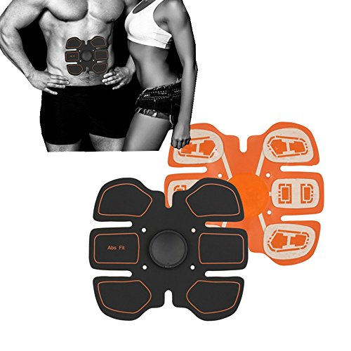 MEET RADE ABS Stimulator Abdominale Spier Toning AB Belt, Afslanken Trainer Arm Been Taille Fitness Training Gear, Draagbare Draadloze Lichaam Oefening Workout voor Mannen Vrouwen Thuis Gym Office