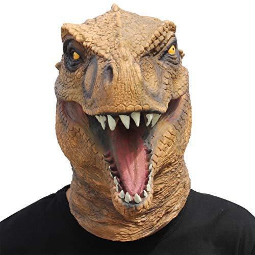 CreepyParty Festa in Costume di Halloween Maschera in Lattice a Testa di Animale Dinosauro