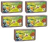 Chavi 5 X 650 (9L) Turba de Coco Lavado 100% orgánico Ladrillo/Bloque de Coco para Fines agrícolas de Interior/Exterior