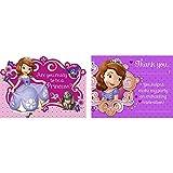 Disney Junior Sofia The First Invitations & Thank-You Postcards (8 Each)
