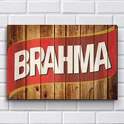 Placa Decorativa em MDF com 20x30cm - Modelo P326 - Cerveja Brahma