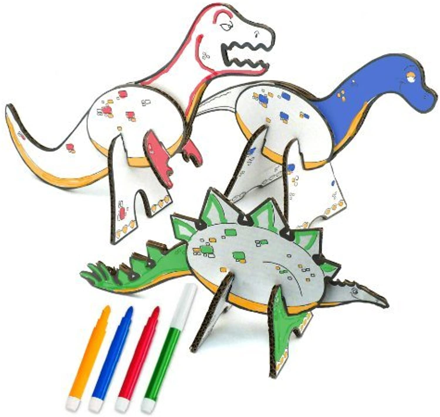 Topozoo Dinosaur Create and color Playset by Topozoo