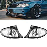Clear Corner Signal Light,1 Pair Turn Signal Corner Light Lamp Lens Replacement For BMW E46 3-Series 4DR 2002-2005 Sedan Clear Corner Parking Marker Light Lens
