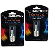 Harmony Audio HA-WR04 Car Stereo Power/Ground 1/0 to 4 Gauge Wire Reducer Pair