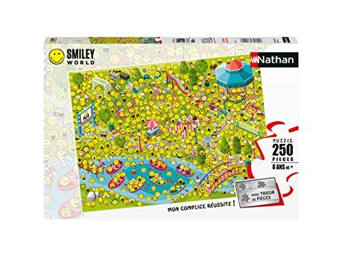 Nathan  Puzzle 250 pièces Les Smileys sont de Sortie SmileyWorld Puzle Infantil, Color ( 4005556868773)