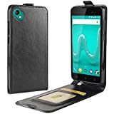 KM-WEN® Case for Wiko Sunny 2 Plus Up-Down Open with