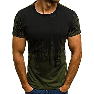 Sunmoot 3D Printed T Shirt for Men Slim Fit Muscle Short Sleeve O Neck Casual Tops Blouse