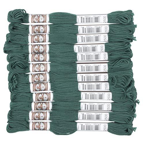 DMC ルトール 刺繍糸 12束入 4番 #2500 グリーン系 DMC89B