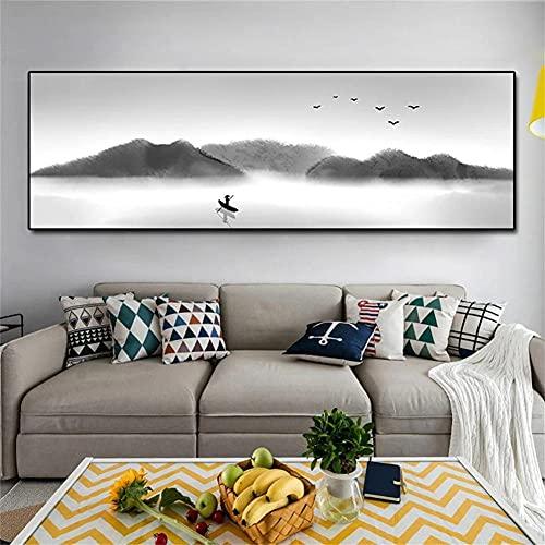 5D DIY Pintura Diamante Niños Kits, Paisaje blanco y negro Full drill Kit Arts Taladro Completo Herramientas Bricolaje Artesanía para la cuarto Decoración Pegatinas de pared Regalo 60x120cm