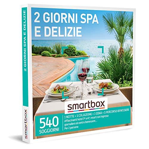 smartbox - Cofanetto Regalo - 2 Giorni Spa e delizie - Idee Regalo - 1 Notte con Colazione, Cena e Pausa Wellness per 2 Persone
