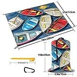 Non Applicable Cheval Pique-Nique Extérieur Tapis Parc Plage Camping Surdimensionné Tapis Imperméable Portable Taille Unique Rameur coloré.