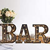 Oycbuzo Light Up LED Vintage Letters Home Decor Name Signs – Illuminated Marquee Letter Sign Lights – Battery Operated – Lighted Accessories & Decorations