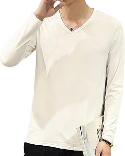 [エスアンドワイ] 6種類カラー Vネック 無地 Tシャツ 長袖 ロンT カジュアル トップス M~XXL メンズ