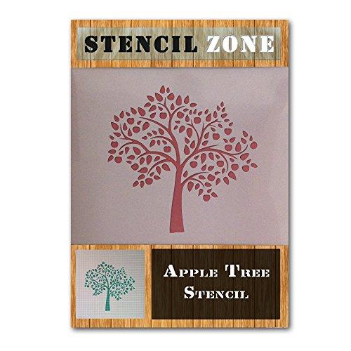 Apple Tree Fruit Mylar Airbrush Malerei Wand-Kunst-Handwerk-Schablone ein (A5 Größe Stencil - XSmall)