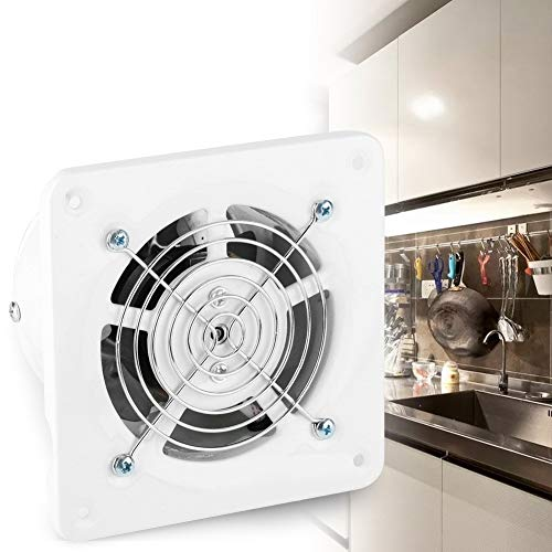 Eastbuy afzuigkap voor de badkamer, 25 W, 220 V, aan de muur bevestigde afzuigventilator, geluidsarm, voor thuis of in de keuken, garage ventilatieopeningen
