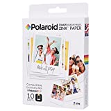 Polaroid Zink Zero Ink - Papel fotográfico (Inyección de Tinta, 10 Hojas, Pop, 89 mm, 108 mm)