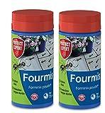 PROTECT EXPERT FOURPOUD250X2 antihormigas en Polvo, Lote de 2 x 250 g, hasta 150 m2 tratados, acción Choque y protección de Larga duración, eficiente