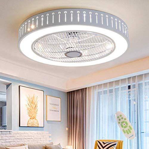 LED Deckenventilator Mit Beleuchtung Unsichtbares Fan Licht Einstellbar Modern Schlafzimmer Fan Deckenleuchte Dimmbar Wohnzimmer Leuchte Fernbedienung Leise Kinderzimmer Ventilator Lamp Kronleuchter