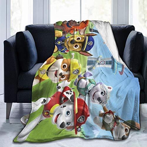 GEHIYPA P-A-W Pat-rol Manta de franela manta ultra suave microfibra para sofá cama 152 x 127 cm