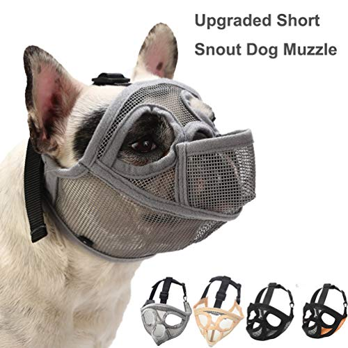 Coppthingktu Dog Muzzles, Adjustable Dog Muzzle, Dog Muzzles for Biting Barking, Soft Comfortable Dog Mouth Cover for Short Snout