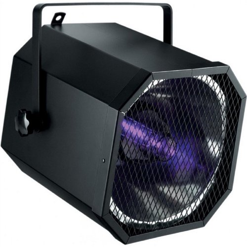 QTX Cannon luce spot UV effetti luce LED discoteca (400 Watt, raggi UV, riflettore parabolico)
