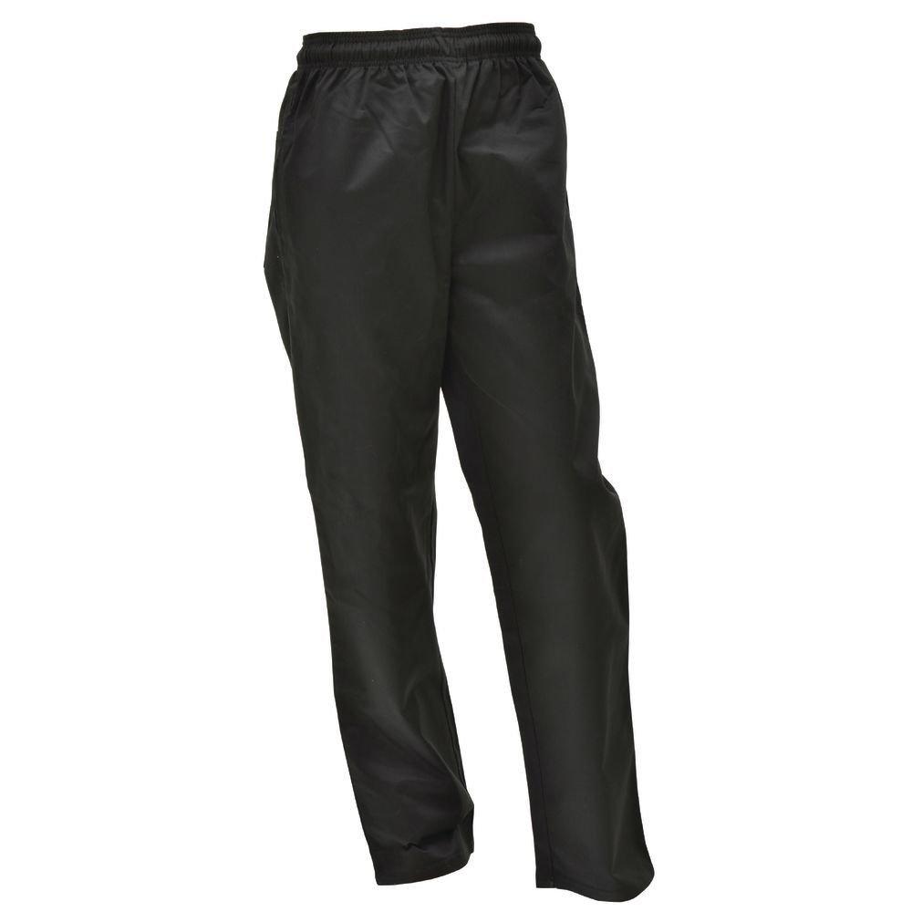 Hubert Chef Pants Black Poly Cotton - Small